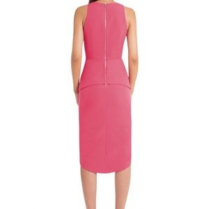 AQAQ Hero Knee Length Origami Dress - Pink